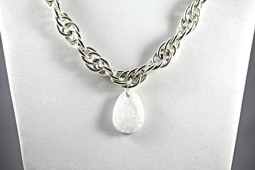 Alluring Druzy Teardrop Necklace