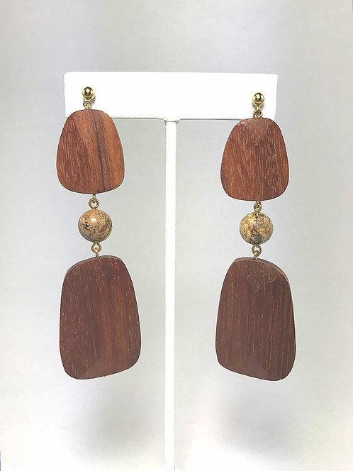 Jasper Geo Earrings