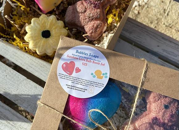 Sunshine Love Gift Set Bath Bomb