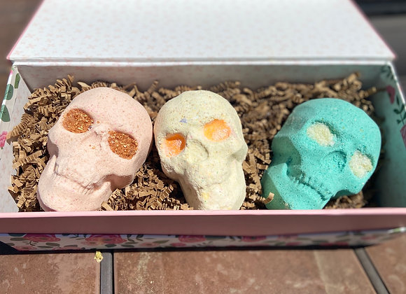 Skull Bath Bomb Gift Set