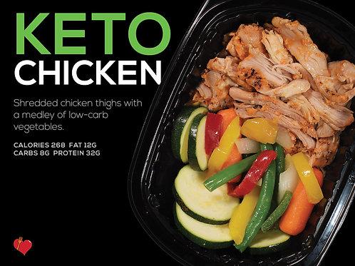 Keto Chicken (Cal 268 F 12g/C 8g/P 32g)