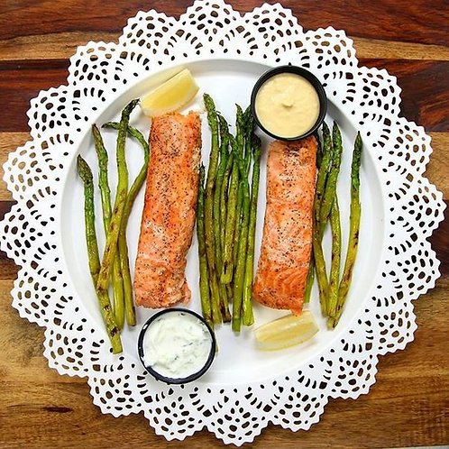 Phinix Grill (fresh cooked) - Salmon Recovery  (Cal 754 / F 34g / C 64g / P 43g)