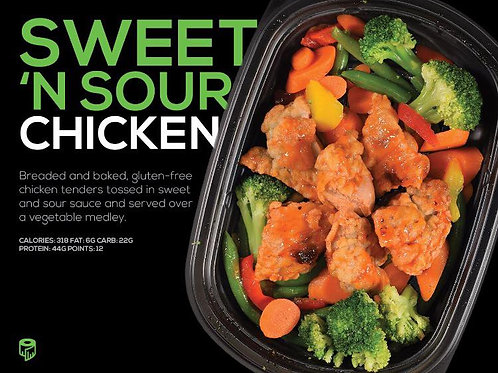 Sweet And Sour Chicken - (Cal 290 F 6g/C 37g/P 22g)