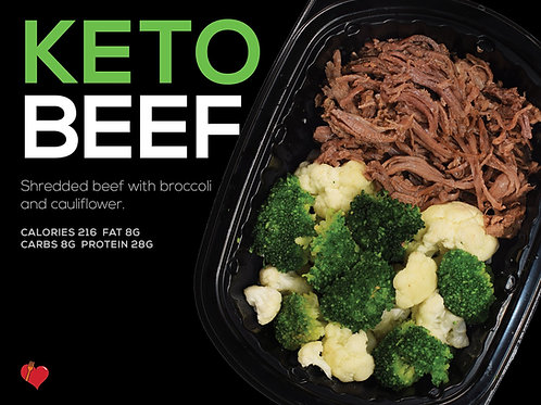 Keto Beef (Cal 216 F 8g/C 8g/P 28g)