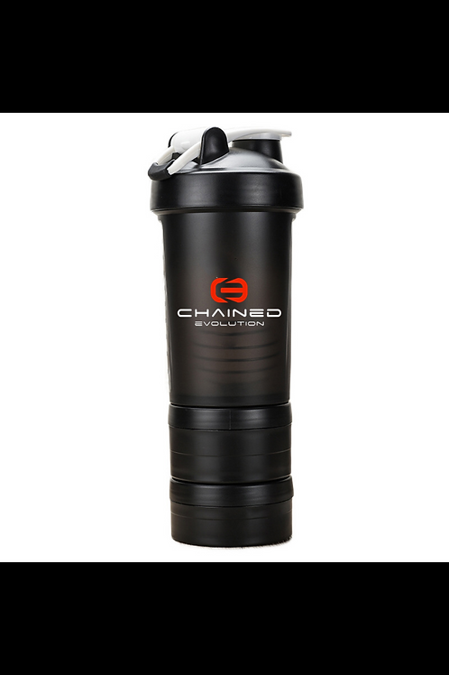 Chained Evolution 3 Layer Protein/Water Shaker Bottle (BPA-free)