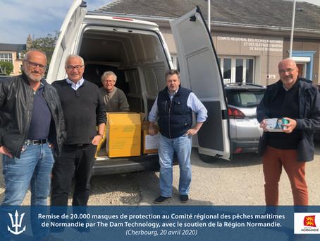 The Dam Technology fournit 20.000 masques de protection aux pêcheurs professionnels de Normandie.
