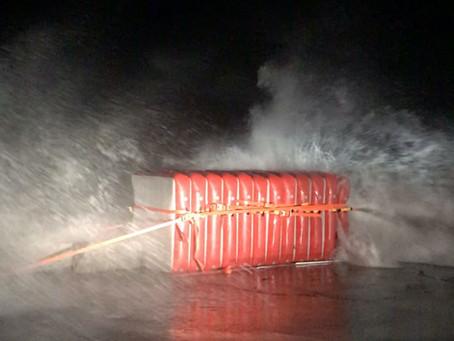 Les blocs SeaSurge® passent sans problème le test de leur premier coup de vent d'automne