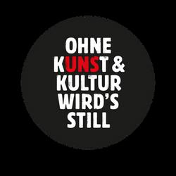 Logo Ohne Kunst und Kultur RUND NEG
