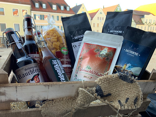 Geschenkkorb aus regionalen Produkten
