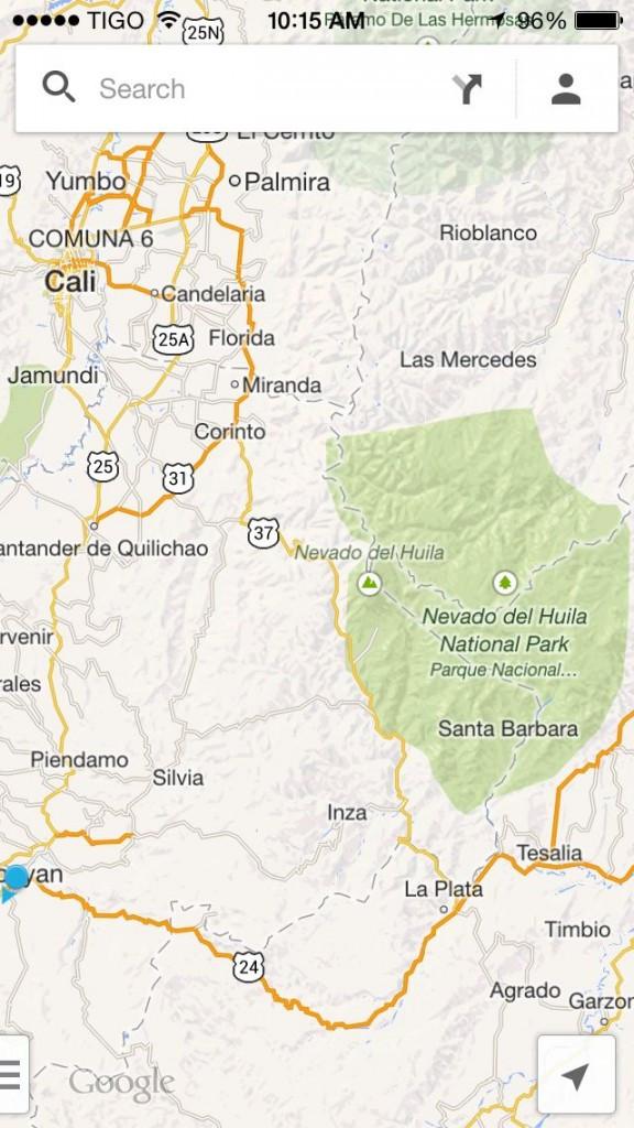 map to tierradentro