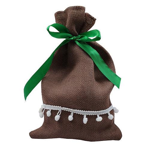 Reusable Gift Bag Green Ribbon