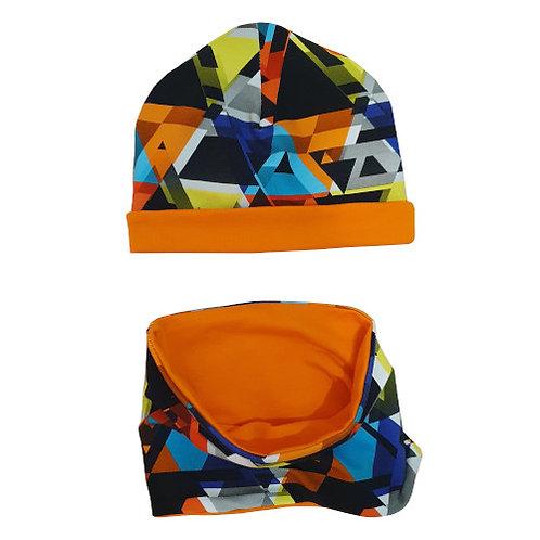 Orange Hat & Snood Set