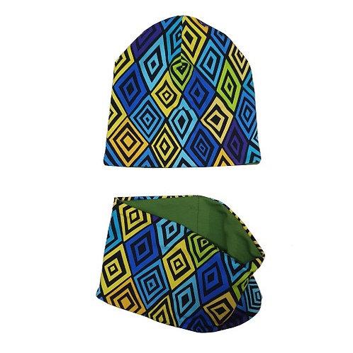 Blue Hat & Snood Set