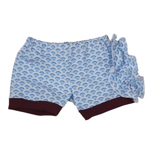 Blue Shells Ruffle Shorts