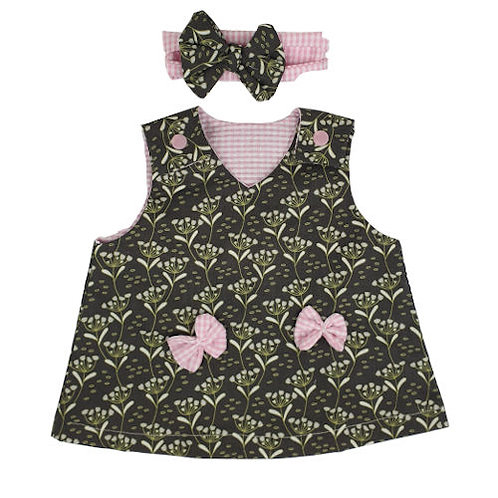Forest Green Dress with Headband