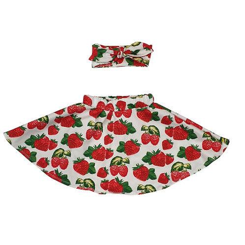Strawberry Skirt and Headband