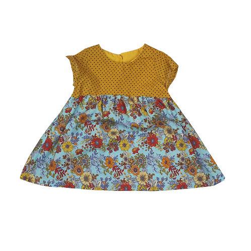 Blue&Yellow flower dress