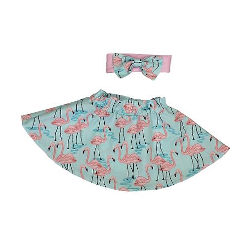 Flamingos Skirt and Headband
