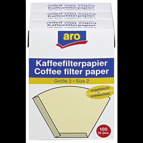 Aro Kaffeefilter Größe 2 (100 Stück) (50g)