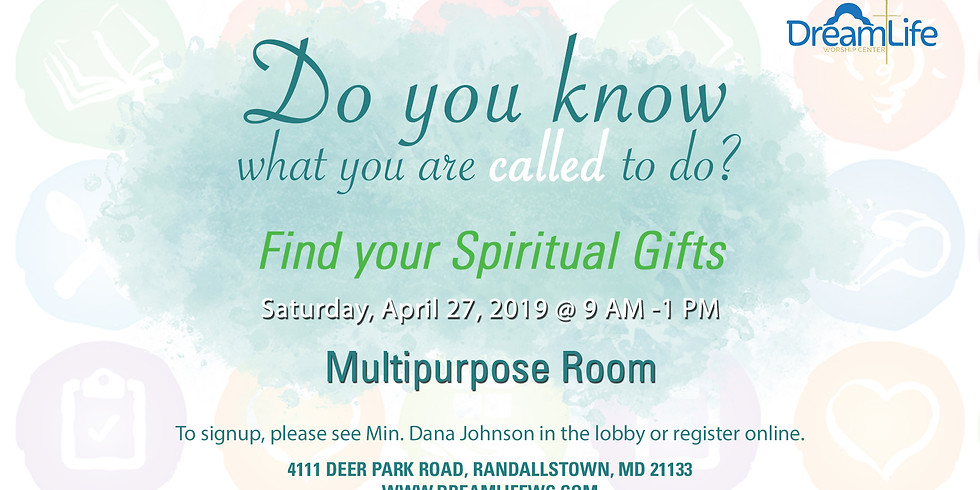 Spiritual Gifts Workshop April