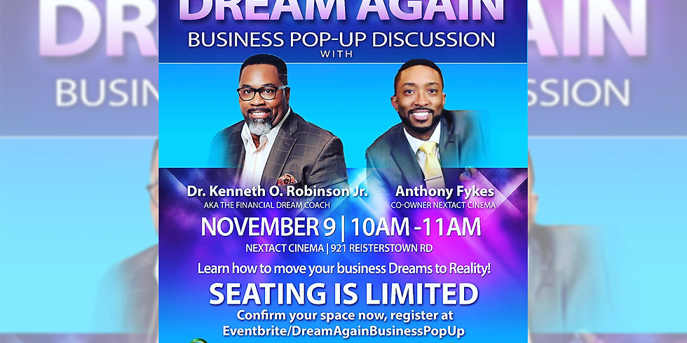 Dream Again Business Pop-Up Discussion