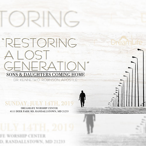 Restoring A Lost Generation: Sons & Daughters Coming Home