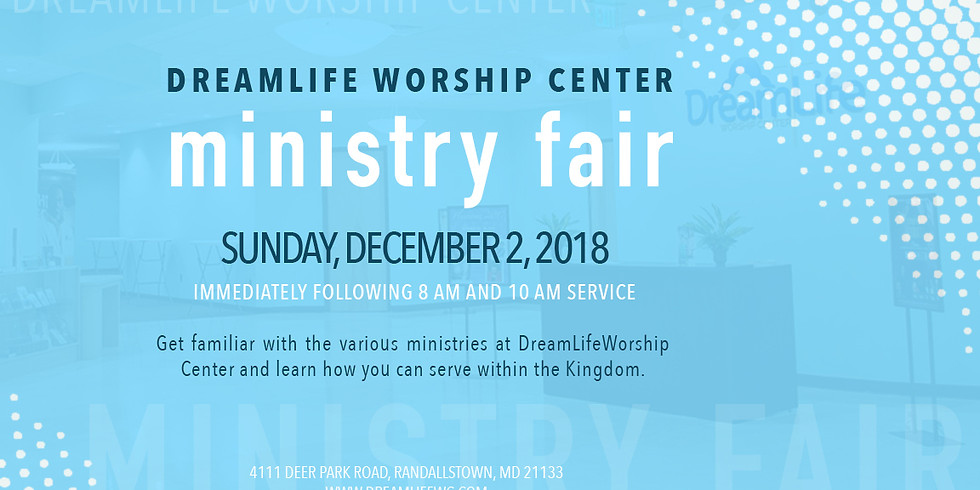 DreamLife Worship Center Ministry Fair
