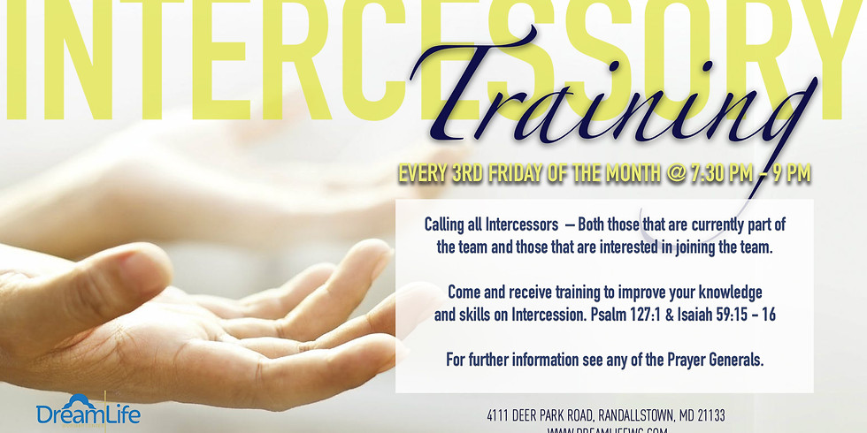 Intercessory Prayer Training - September