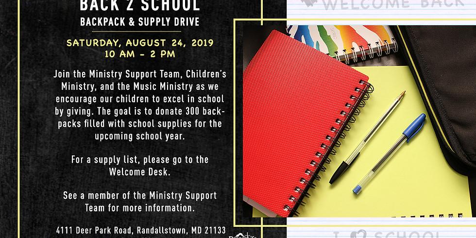 Back 2 School Backpack & Supply Drive
