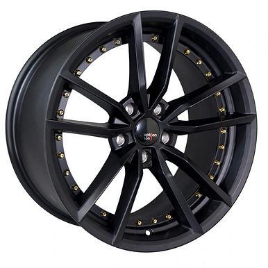 S409 Matte Black w/ Gold Rivets