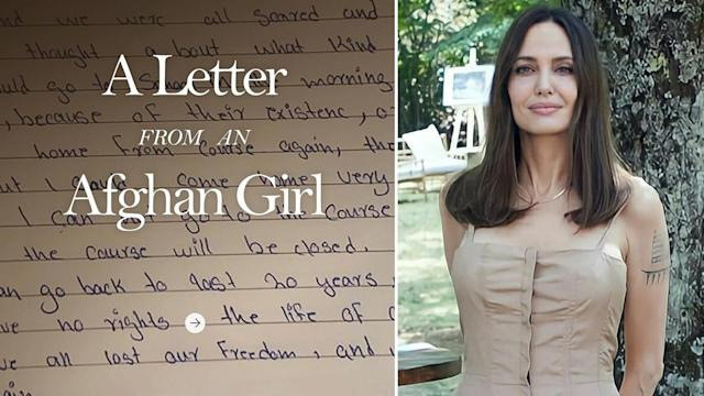 Angelina Jolie Shares Heartbreaking Letter From An Afghan Girl In Her Instagram Debut