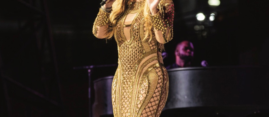 Mariah Carey glitters in AMATO by Dubai-based Furne One for the launch of 'One Year to Go until Expo