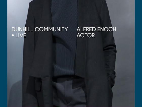 X|NEWS: DUNHILL COMMUNITY: LIVE with Alfred Enoch | Friday 8th May at 20:00 GST