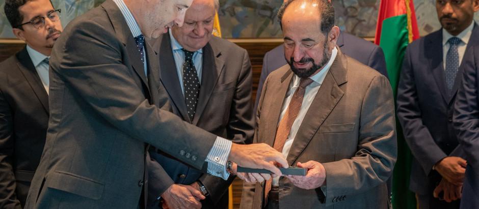 Sharjah Ruler Visit Casa Árabe in Madrid