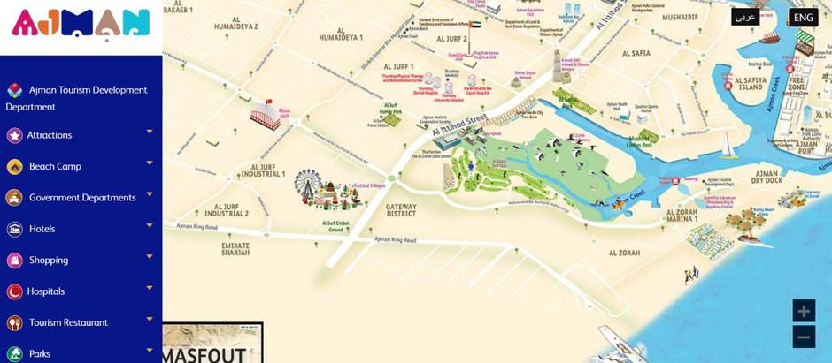 Ajman Tourism showcases the emirate's digital map