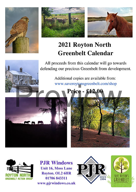 2021 Royton North Greenbelt Calendar