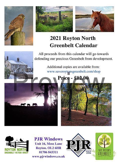 2021 Royton North Greenbelt Calendar