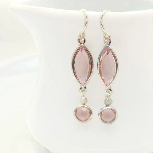 Blush Shimmer Earrings