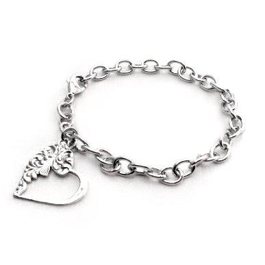 Emma Heart Charm Bracelet