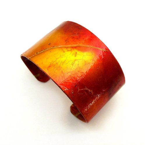 Parchment Cuff: Orange Papaya