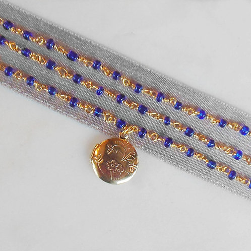 Aqua Locket Necklace