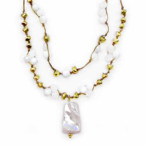 Hanna Mother Of Pearl Necklace