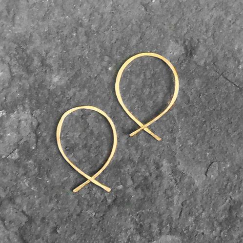 Twist Hoops Gold
