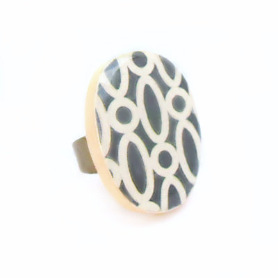 Dove Gray Cocktail Ring