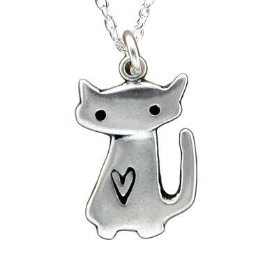 Love Cat Charm Necklace