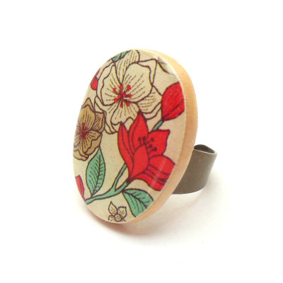 Mod Flower Cocktail Ring