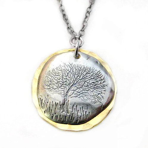 Oak Tree Impression Necklace