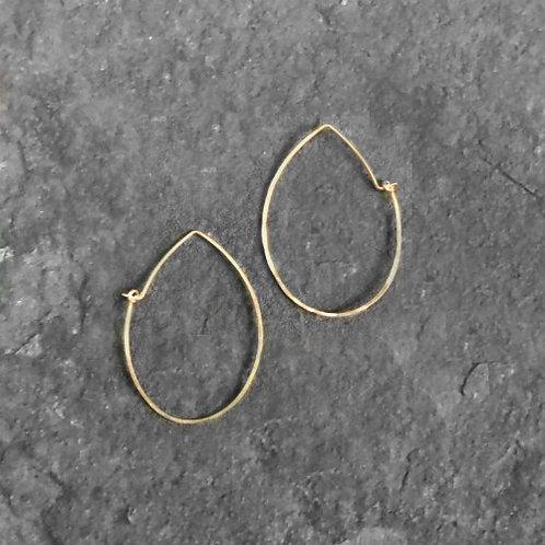 Teardrop Hoops Gold, Small
