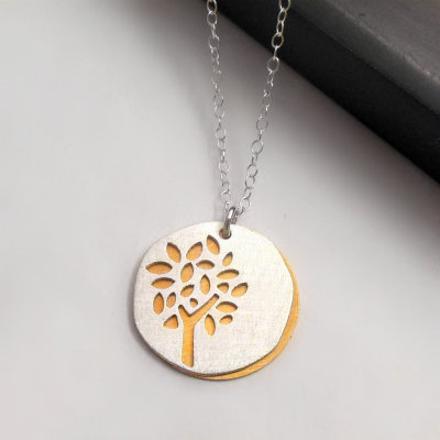 Summer Tree Silhouette Necklace