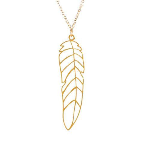Pluma Feather Necklace